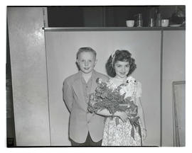 Nadine Levin and Kenneth Johnson, 1947 Junior Rose Festival royalty