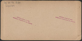 "Verso of, ""Multnomah Falls, 700 feet, Cascades, Oregon."" (Stereograph E5)"