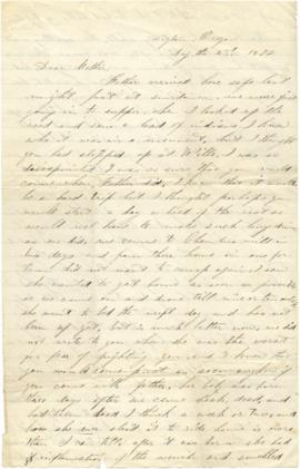 Letter to Sarah Ann Palmer from one of her children
