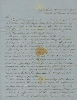 Letter from Joel Palmer to George Manypenny regarding the treaty with the Rogue River Tribe