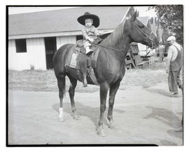 Young child on horseback