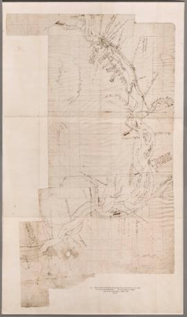 Sketch of the Columbia River from the forks, & the 19th of October 1805 to the 1st of Jany on...