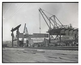 East end of Burnside Bridge, Portland, under construction