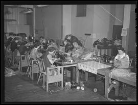 Workers sewing at St. Johns Welders' Supply Company, Portland
