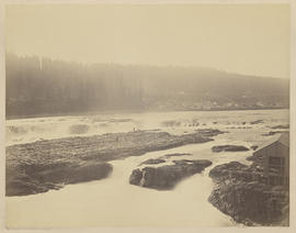 """Canemah and the Willamette Falls - Oregon City - Oregon. From West Shore."" (Mammoth 413)"
