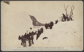 """D105. Clearing the Track--Winter of 1884-5--Columbia River, Or."""
