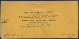"Verso of, ""The Willamette Falls, Oregon."" (Stereograph 1222)"