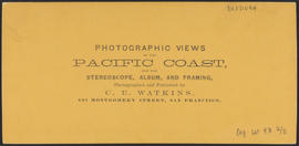 "Verso of, ""At the Lower Cascades, C. R."" (Stereograph 1336)"