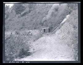 Oak Grove project, steam shovel in slide