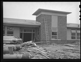 Vanport School opening during construction