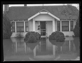 Person in house during Eugene flood
