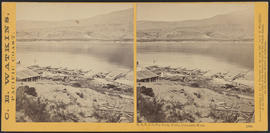 """O. S. N. Co.'s Dry Dock, Celilo, Columbia River."" (Stereograph 1333)"