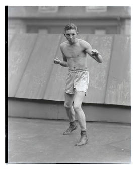 Unidentified boxer facing front