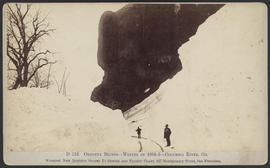 """D112. Oneonta Bluffs--Winter of 1884-5--Columbia River, Or."""