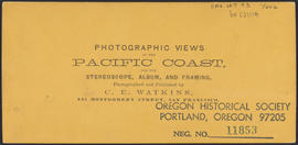 "Verso of, ""O.S.N. Co's Works, Dalles City, Columbia River."" (Stereograph 1307)"