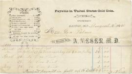Receipt to Sarah Ann Palmer for doctors visits