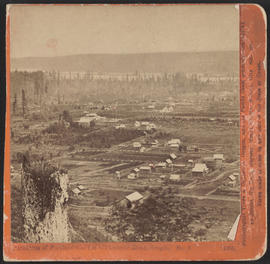 """Panorama of Portland and the Willamette River, Oregon. No. 8.""  (Stereograph 1208)"