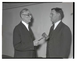 James K. Weatherford and Representative John E. Cooter at opening of 1935 Oregon legislative session