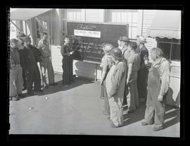 Jeannine Christensen? instructing workers about No Work, No Woo at Albina Engine & Machine Wo...