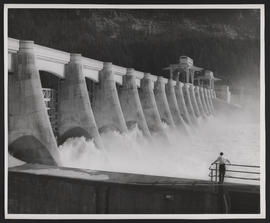 Spillways at Bonneville Dam