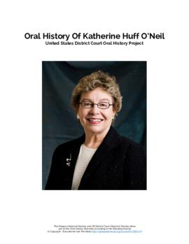 Oral history interview with Katherine Huff O'Neil Transcript]