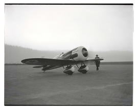 Frank M. Hawks' airplane at Swan Island airport, Portland