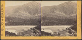 """The Upper Cascades, Columbia River, from the Block House."" (Stereograph 1266)"