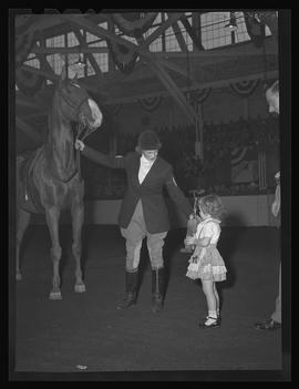 Rider at Pacific International Livestock Exposition show, Portland