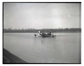 Seaplane on river