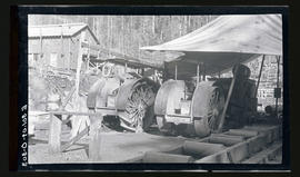 Oak Grove project, tractor powered sawmill