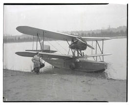 Man with seaplane
