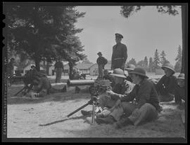 Soldiers with artillery guns at Vancouver Barracks