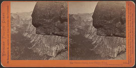 """The Tenaya Cañon, from Glacier Point, Yosemite valley, Mariposa County, Cal."" (Stereog..."