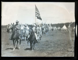 Native people ride in commemorative pageant in Meacham, Oregon