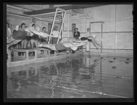 Swimmers at city championship at Multnomah Athletic Club, Portland