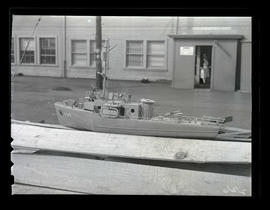 Model ship, Albina Engine & Machine Works, Portland