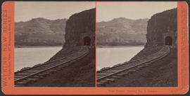 """West Portal, Tunnel No. 3, Oregon."" (Stereograph E19)"