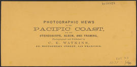 "Verso of, ""Lone Rock, Columbia River."" (Stereograph 1233)"