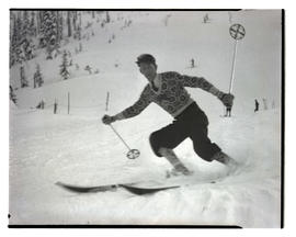 Skier, probably on Mount Hood
