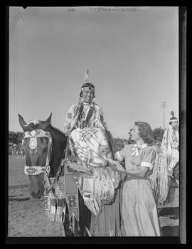 Jeanette Wesley, Indian Queen at the Pendleton Round-Up