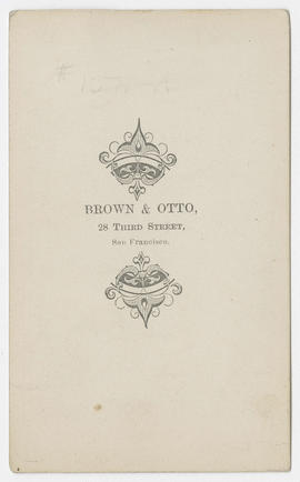 Portrait of an unidentified woman from Brown & Otto Studio (verso)