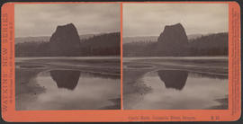 """Castle Rock, Columbia River, Oregon."" (Stereograph E10)"