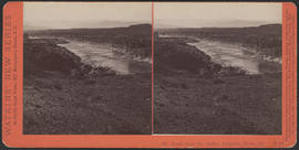 """Mt. Hood from the Dalles, Columbia River, Or."" (Stereograph E25)"