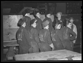 """Hellcats"" women welding crew at Oregon Shipbuilding Corporation, Portland"