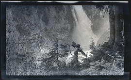 William L. Finley photographing Narada Falls