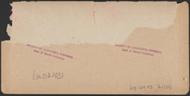 "Verso of, ""Bridal Veil Bluffs, Cascades, Columbia River, Oregon"" (Stereograph E33)"
