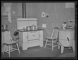 Kitchen at war worker home at Bagley Park stables near Vancouver