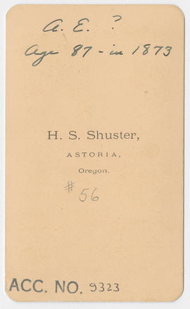H. S. Shuster portrait of an unidentified woman (verso)