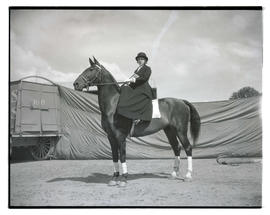 Circus performer on horseback