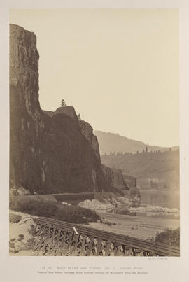 """O.36. Rock Bluff and Tunnel No. 3. Looking West."""